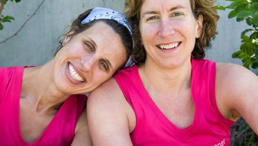 Sarah Bowen-Shea (right) and her business partner Dimity McDowell