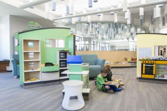 One of the libraries in the Arapahoe Library district, where you can find 3D Printers, immersive technology, and learning centers for kids.